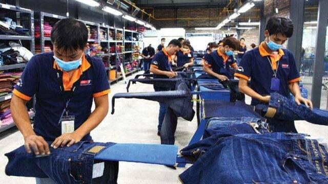 Ironing department in Phong Phu factory, Vietnam