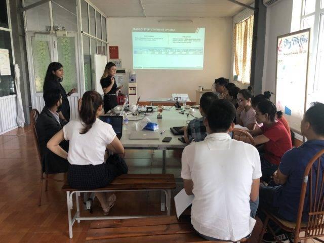IntelloCut software training at Song Hong factory in Vietnam