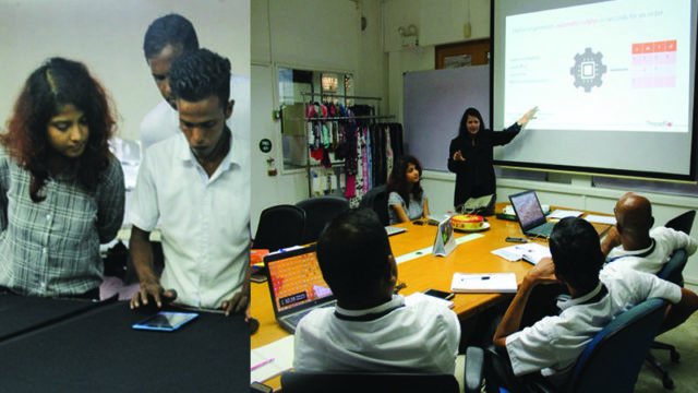 Theory and practical training of IntelloCut solution in Hoodvian factory, Sri Lanka