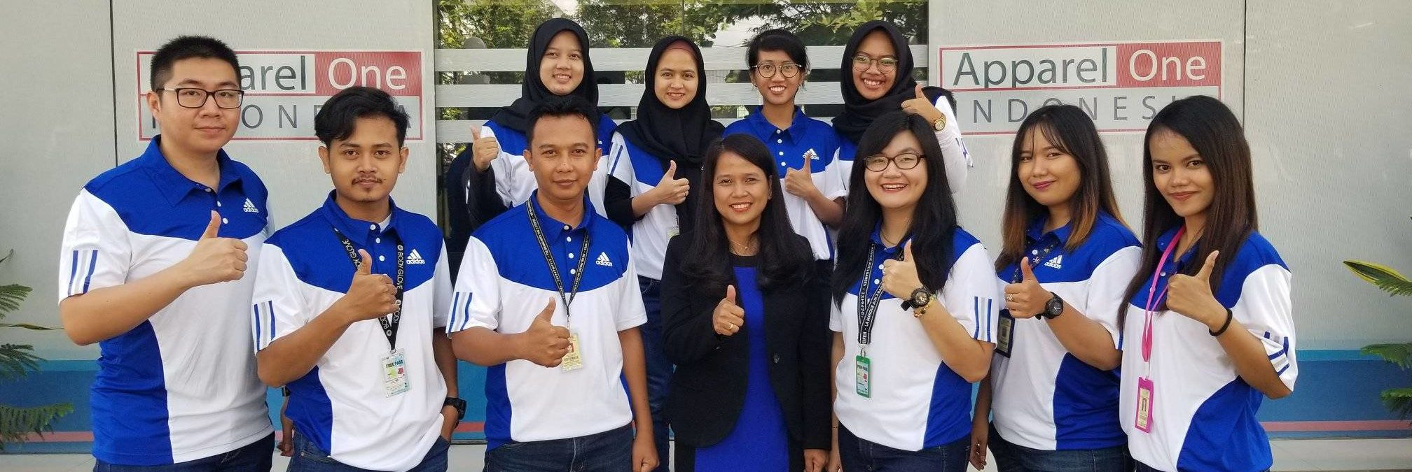 Group photo of newly qualified GSDCost practitioners in Apparel One Indonesia