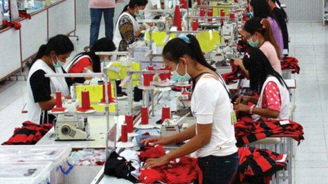 Nice Group production floor with workers and sewing machines