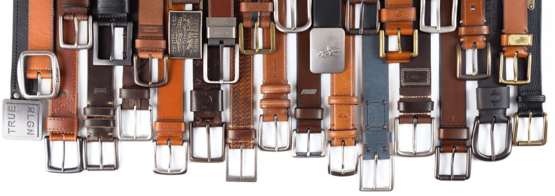 Selection of leather belts manufactured by Tata