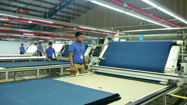 Cutting floor of Univogue factory in Bangladesh