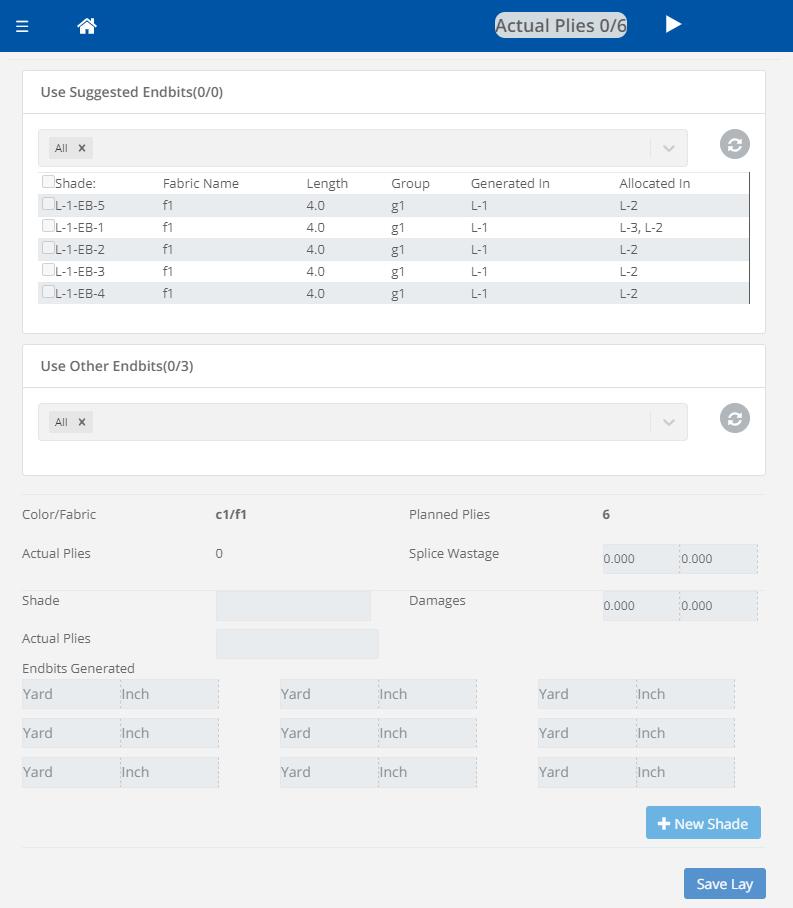 Screenshot of end bit management in Coats Digital's IntelloCut solution