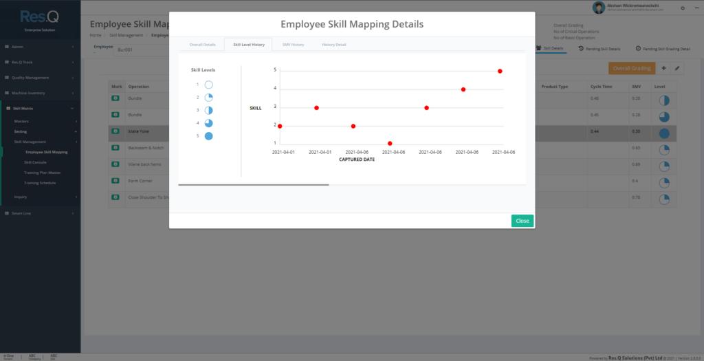 Res.Q SM技能管理解决方案的屏幕截图