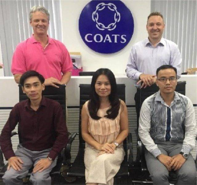 Coats Digital team in Coats offices in Vietnam